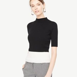 Ann Taylor Black and White Sweater